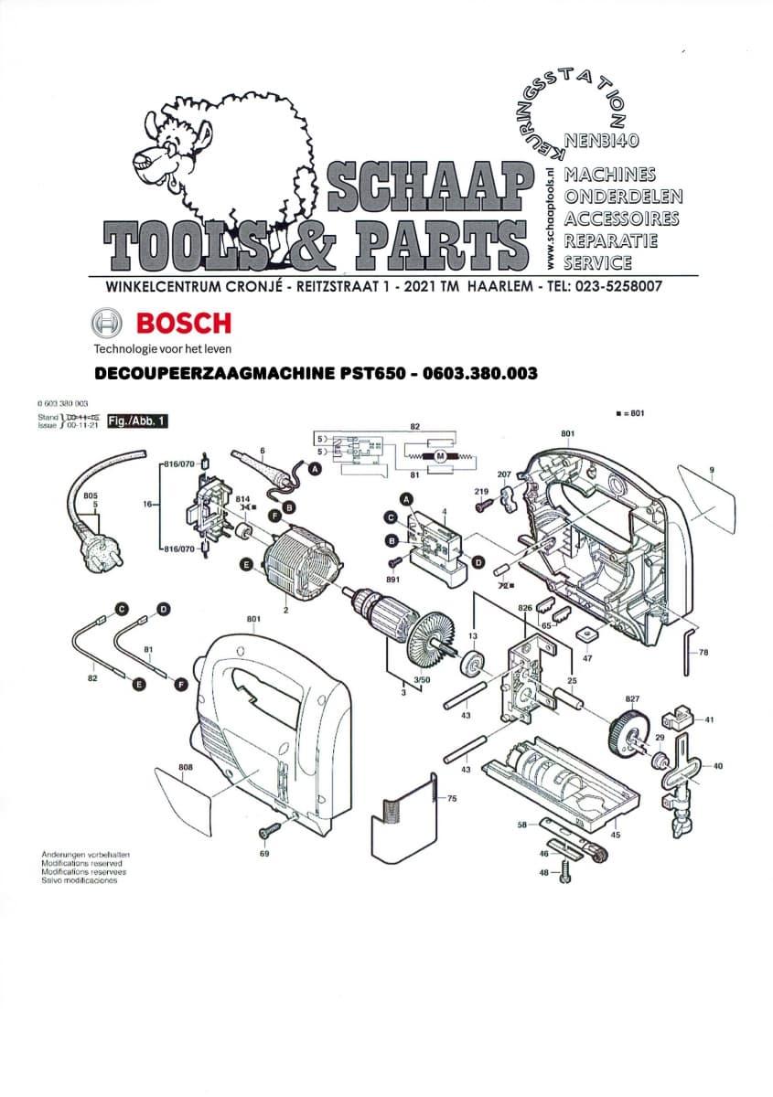 Beroemd Bosch Decoupeerzaagmachine groen PST 650 - 0603 380 003 | Schaap BH43