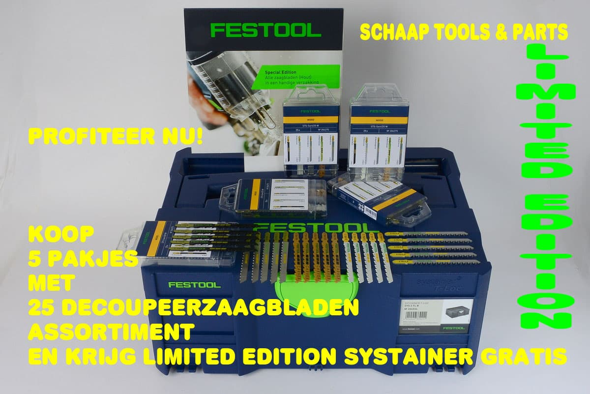 Festool decoupeerzaagbladen in systainer