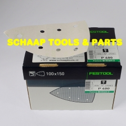 Schuurblad 100x150mm P400 Brilliant2 StickFix per 100 verpakt | 492803