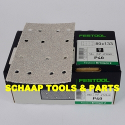 Schuurblad  80x133mm P 40 Brilliant2 StickFix per 50 verpakt | 492848