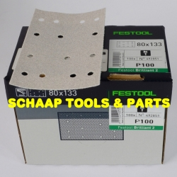 Schuurblad  80x133mm P100 Brilliant2 StickFix per 100 verpakt | 492851