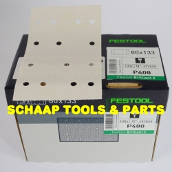 Schuurblad  80x133mm P400 Brilliant2 StickFix per 100 verpakt | 492858