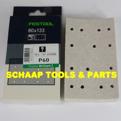 Schuurblad  80x133mm P 60 Brilliant2 StickFix per 10 verpakt | 496008